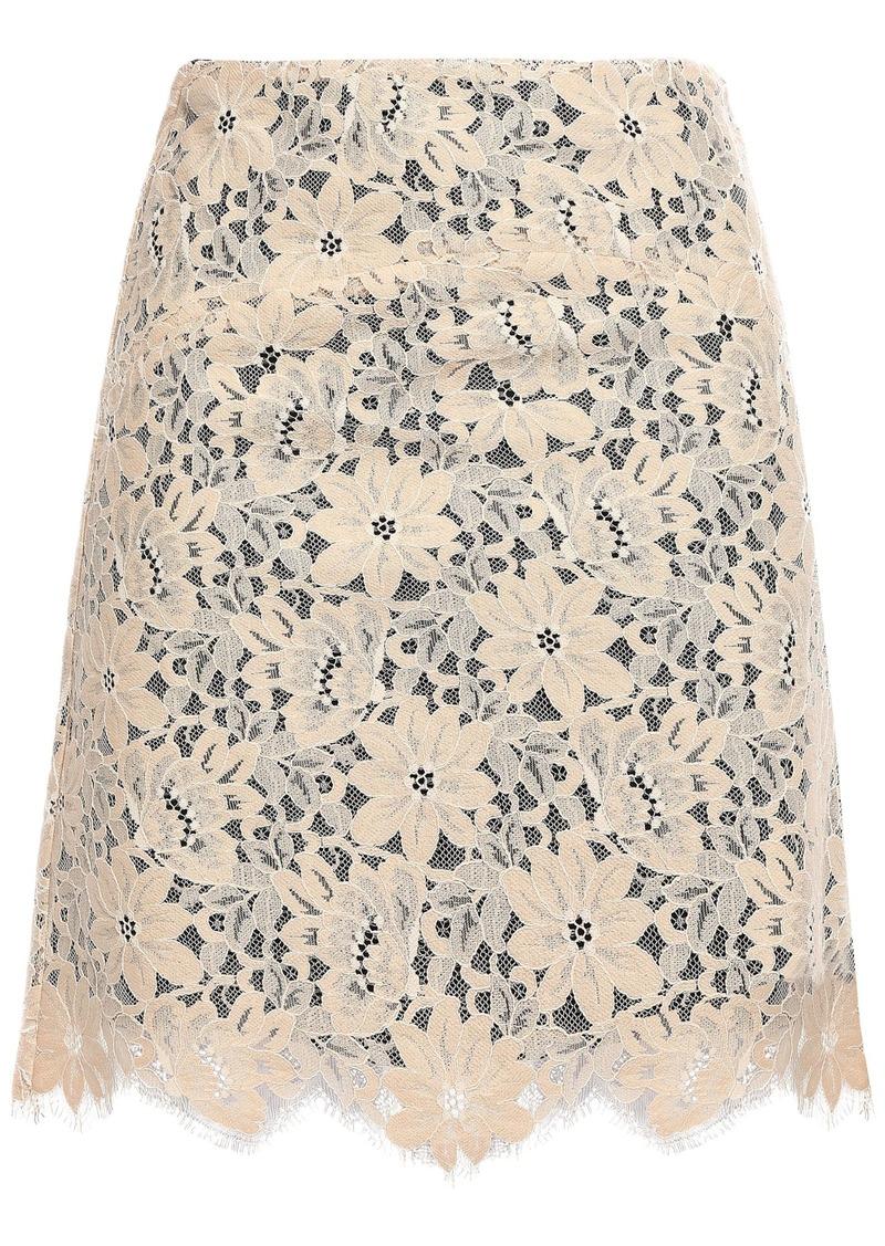 Sandro Woman Lace Mini Skirt Beige