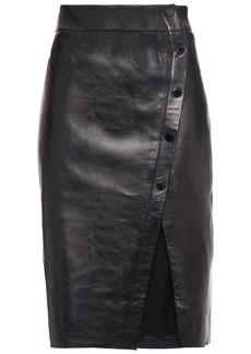 Sandro Woman Leather Pencil Skirt Black