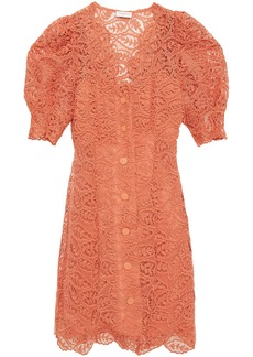Sandro Woman Livan Corded Lace Mini Dress Peach