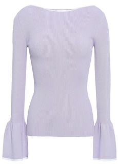 Sandro Woman Ribbed-knit Sweater Lilac