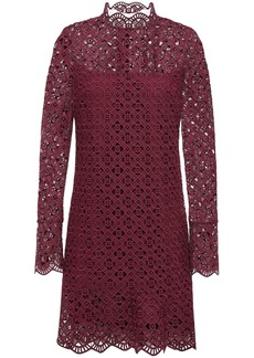 Sandro Woman Scalloped Guipure Lace Mini Dress Merlot