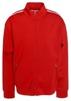 Sandro Woman Striped Neoprene Jacket Red