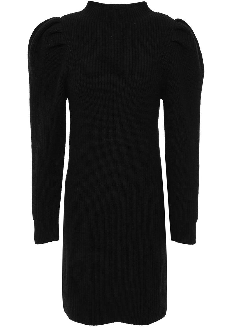Sandro Woman Wool Mini Dress Black