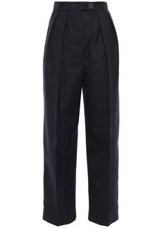 Sandro Woman Woven Straight-leg Pants Midnight Blue