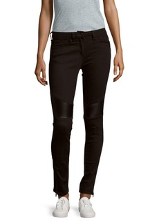 Sandro Zippered Five-Pocket Jeans