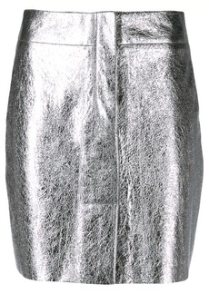 Sandro short metallized skirt