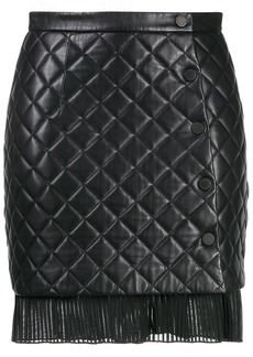 Sandro short quilted-effect skirt
