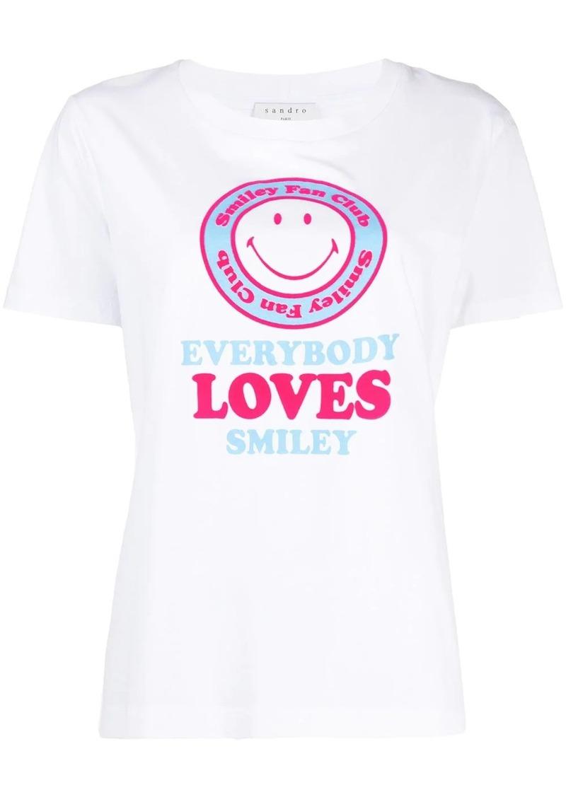 Sandro short sleeve Smile print T-shirt
