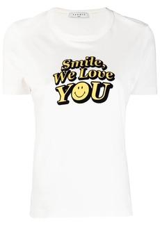 Sandro smile slogan T-shirt