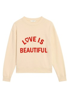 Sandro Stan Embroidered Block Lettering Sweatshirt