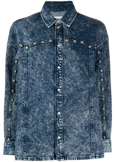 Sandro studded denim shirt