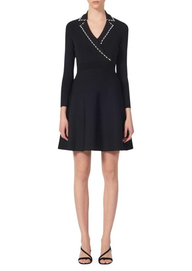 Sandro Suity Embellished Knit A-Line Dress