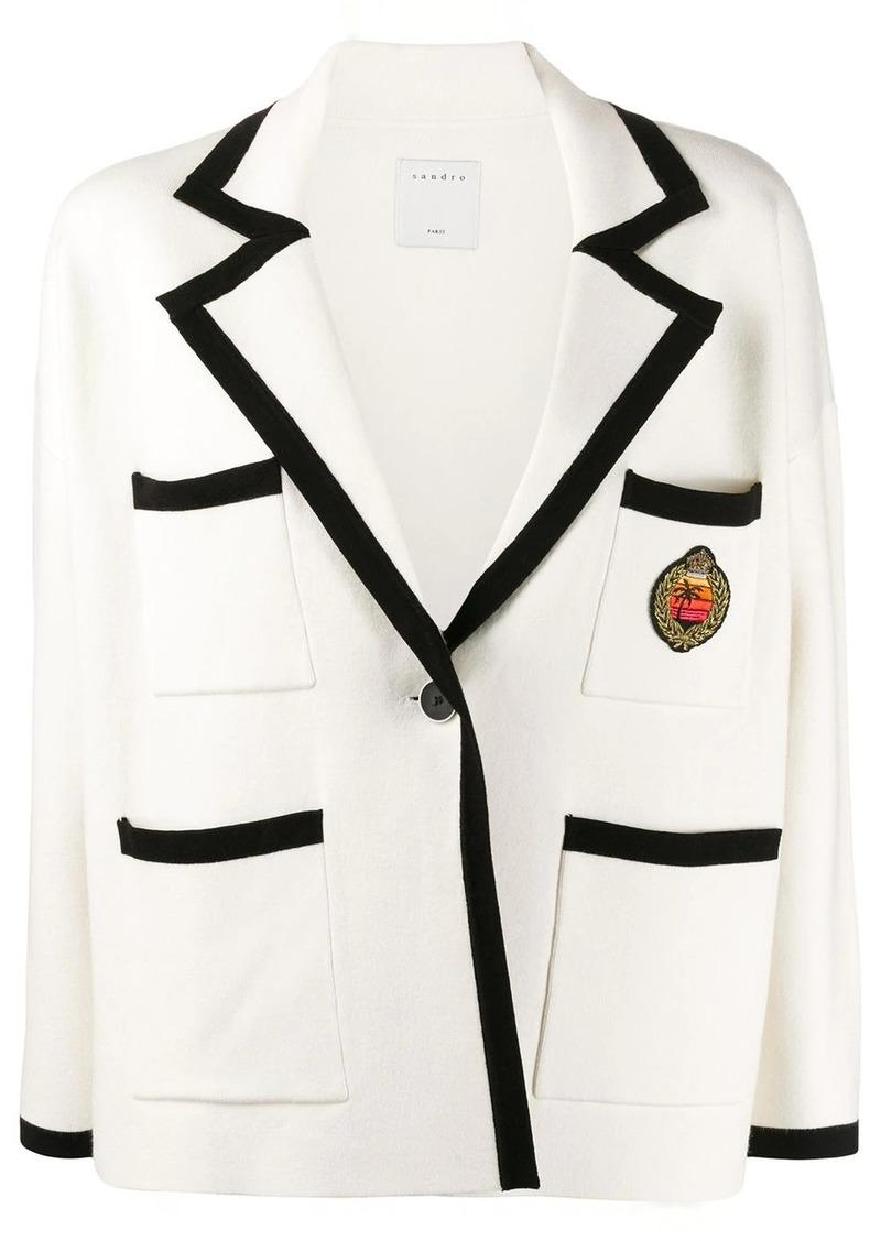 Sandro Sunset crest knitted blazer