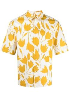 Sandro tulip-print short-sleeved shirt