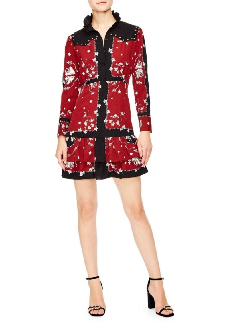 11d18daa758 Sandro Winter Berkeley Lucila A-Line Shirt Dress