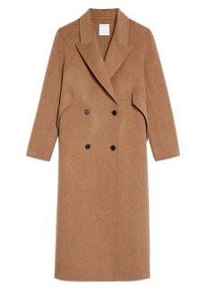 Women's Sandro Double Breasted Wool Blend Coat