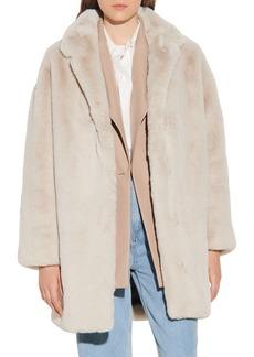 Women's Sandro Faux Fur Coat