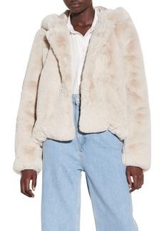 Women's Sandro Faux Fur Hooded Jacket
