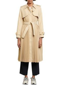 Women's Sandro Pleated Trench Coat