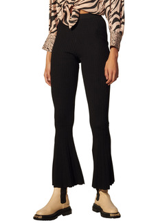 Women's Sandro Ribbed Flare Pants