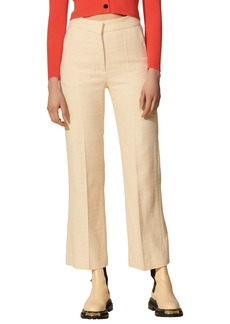 Women's Sandro Textured Ankle Trousers