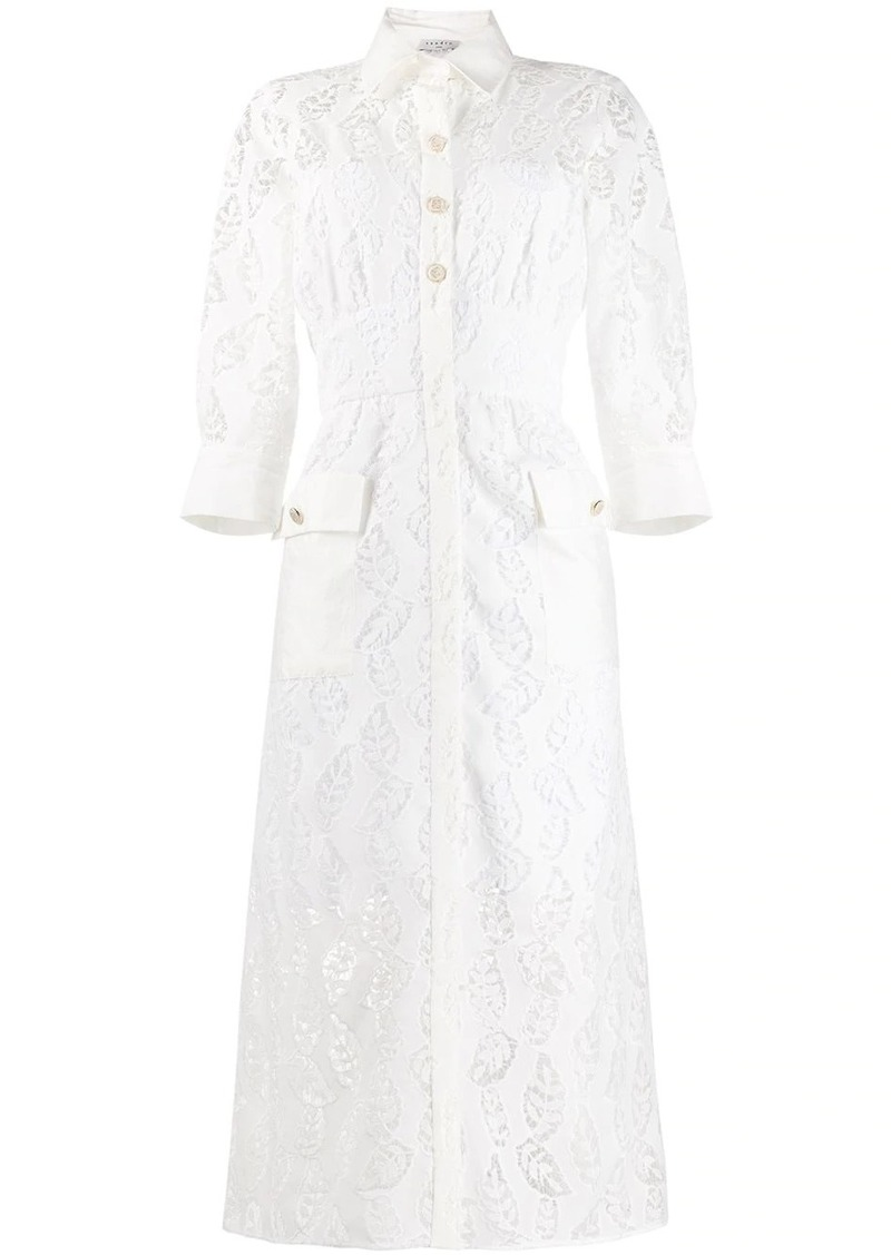 Sandro Zenali floral lace dress