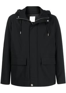 Sandro hooded front-zip lightweight jacket