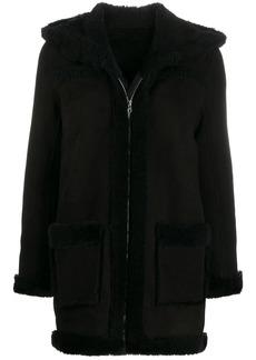 Sandro zip-up hooded jacket