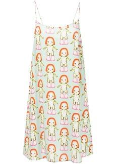 Sandy Liang Banks Margot-print slip dress