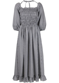 Sandy Liang Beeper gingham check-print midi dress
