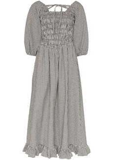 Sandy Liang Beeper gingham smocked dress