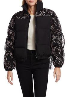 Sandy Liang Chambers Combo Fleece Jacket