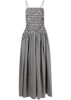 Sandy Liang Goose gingham-check print midi dress