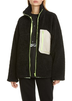 Sandy Liang Barn Mesh Pocket Fleece Jacket