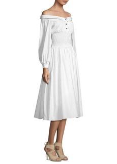 Sandy Liang Marge Off-The-Shoulder Dress