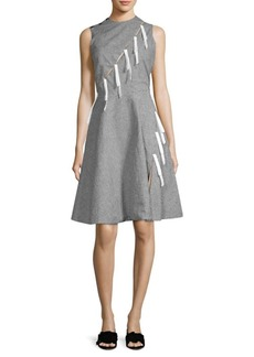 Sandy Liang Marnie Bow Gingham Dress