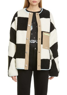 Sandy Liang Pawn Check Fleece Jacket