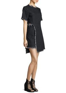 Sandy Liang Peanuts Frayed Denim Dress