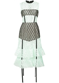 Sandy Liang ruffle lace dress - Green