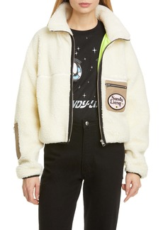 Sandy Liang Sarnie Crop Fleece Jacket