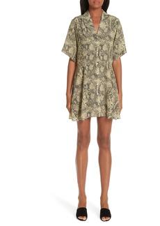 Sandy Liang Snake Print Shirtdress