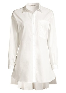 Sandy Liang Ums Cotton Shirtdress