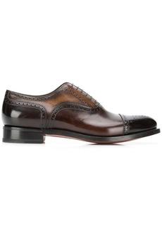 Santoni 6 hole Oxford shoes