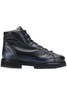 Santoni ankle lace-up boots