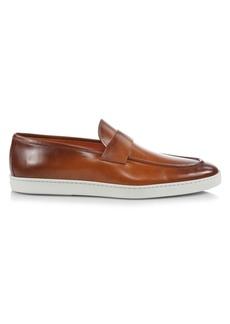 Santoni Atlantis Leather Penny Loafers