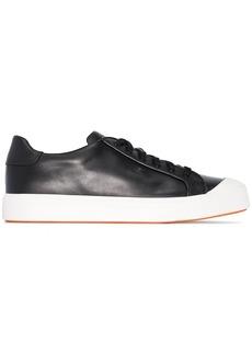 Santoni contrast toe lace-up sneakers