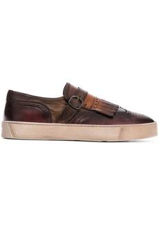 Santoni brogue-style slip-on sneakers