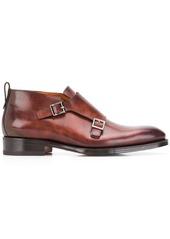 Santoni buckle monk shoes