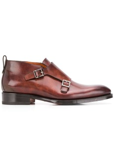 Santoni buckle monk shoes