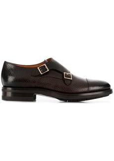 Santoni buckled monk shoes